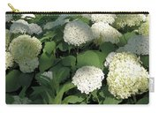 White Hydrangea Bush Carry-all Pouch