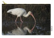 White Ibis Feeding In Morning Light Carry-all Pouch