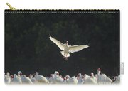 White Ibis In Flight Over Flock Carry-all Pouch
