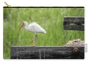 White Ibis Stepping Out Carry-all Pouch