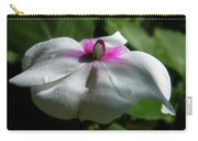 White Impatien Carry-all Pouch