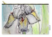 White Iris Carry-all Pouch