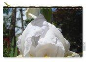 White Iris Flower Art Prints Canvas Irises Artwork Carry-all Pouch