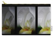 White Iris Study Triptych Carry-all Pouch