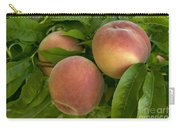 White Lady Peaches On A Branch Carry-all Pouch