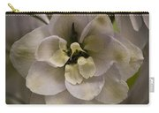 White Larkspur Close Up By Jean Noren Carry-all Pouch