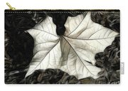 White Leaf On The Ground Carry-all Pouch