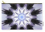 White-lilac-black Flower. Digital Art Carry-all Pouch