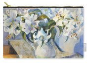 White Lilies In White Jug Carry-all Pouch