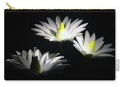 White Lillies Carry-all Pouch