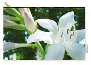 White Lily Flowers Art Prints Lilies Giclee Baslee Troutman Carry-all Pouch