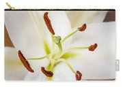 White Lily Macro Carry-all Pouch