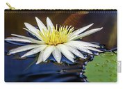 White Lily On Pond Carry-all Pouch