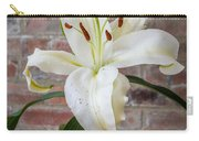 White Lily Portrait Carry-all Pouch