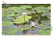 White Lotus Flowers Carry-all Pouch