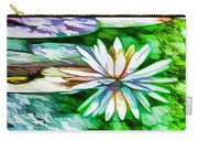 White Lotus In The Pond Carry-all Pouch