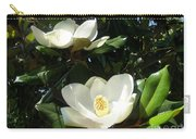 White Magnolia Flowers 01 Carry-all Pouch