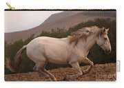 White Mare Gallops #1 -  Close Up Brighter Carry-all Pouch