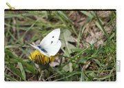 White Moth Carry-all Pouch