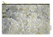 White Mums Carry-all Pouch