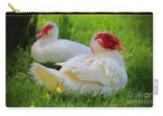 White Muscovy Ducks Carry-all Pouch