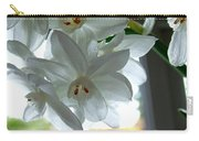 White Narcissi Spring Flower Carry-all Pouch