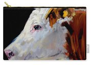 White On Brown Cow Carry-all Pouch