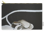 White Orchid Third Section Carry-all Pouch