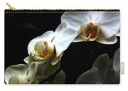 White Orchid With Dark Background Carry-all Pouch