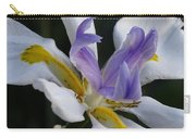 White Orchid With Yellow And Purple Carry-all Pouch