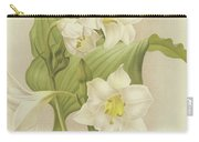 White Orchids   Eucharis Sanderiana Carry-all Pouch