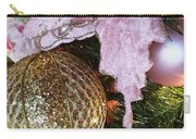 White Ornaments Holiday Card Carry-all Pouch