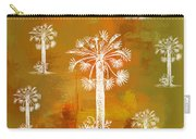 White Palms Gold Carry-all Pouch