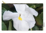 White Pansy Carry-all Pouch
