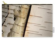 White Paper Birch Tree Bark Carry-all Pouch