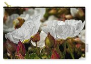 White Paper Petals Carry-all Pouch