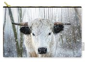 White Park Cattle In The Snow Carry-all Pouch