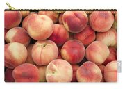 White Peaches Carry-all Pouch by John Trax