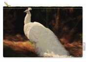 White Peacock In Golden Hour Carry-all Pouch