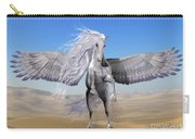 White Pegasus In Desert Carry-all Pouch