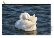 White Pekin Duck In Blue Water Preening Carry-all Pouch