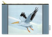 White Pelican 1 Roger Bansemer Carry-all Pouch