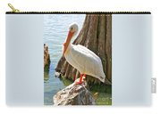 White Pelican By Cypress Tree Carry-all Pouch