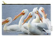 White Pelicans At Nelson Lake Carry-all Pouch