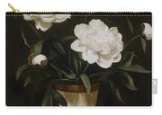 White Peonies In Cone-shaped Vase Carry-all Pouch