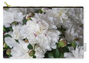 White Peony With Red Traces Carry-all Pouch