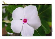 White Periwinkle Flower 1 Carry-all Pouch