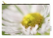 White Petal Flower Abstract Carry-all Pouch
