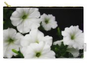 White Petunias Carry-all Pouch