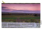 White Picket Fence Looking Over Farmland  Carry-all Pouch